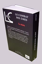 Version papier quatrieme de couverture Le combat des âmes Tome 1 Le choix