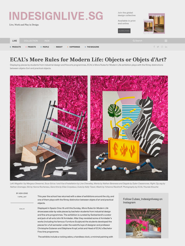 INDESIGN MORE RULES FOR MODERN LIFE