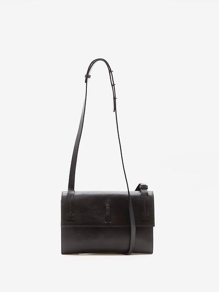 City design petit sac de soirée pour femme cuir noir par Groom Studios