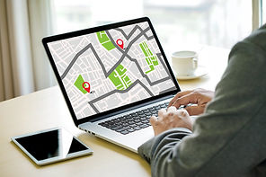 GPS Map to Route Destination network con