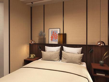 interior design hotel precious material luxury room episode studio
