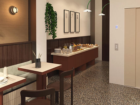 interior design hotel precious material luxury restaurant bruno rey chairs episode studio