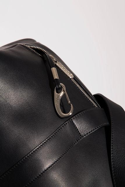 design travel duffle bag for men black leather by Marina Daguet Nathan Baraness Episode studio Groom Studio