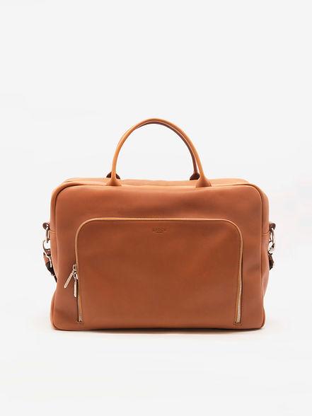catable design avec poches pour homme cuir marron par Groom Studios