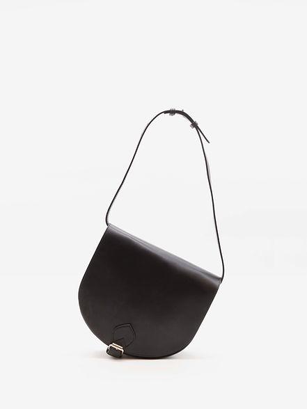 Taquet design petit sac à main besace pour femme cuir noir par Groom Studios