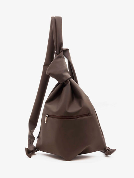 Capuccio design sac à dos femme nylon marron par Groom Studios