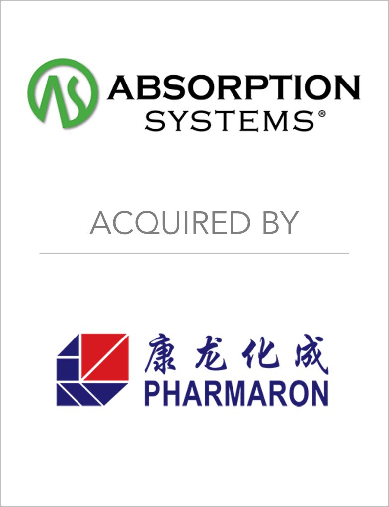 Absorption Systems Acquired By Pharmaron