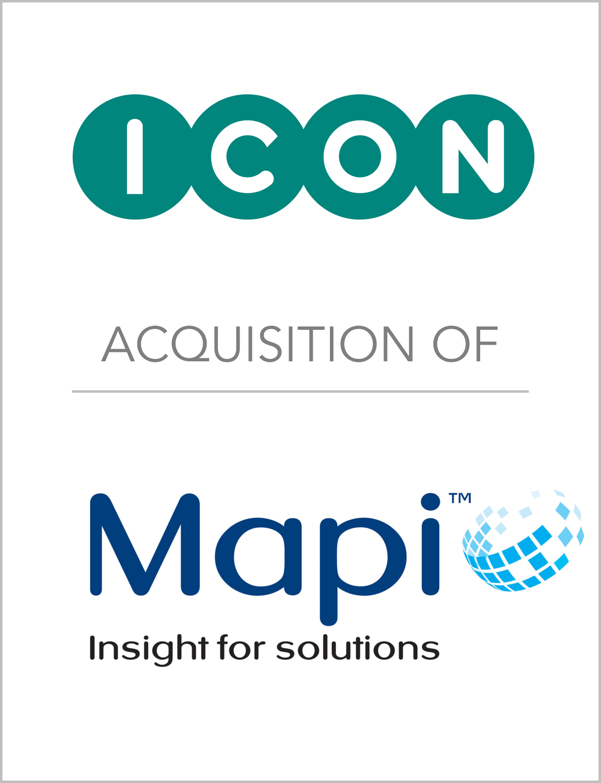 Fairmount Partners Advises ICON plc