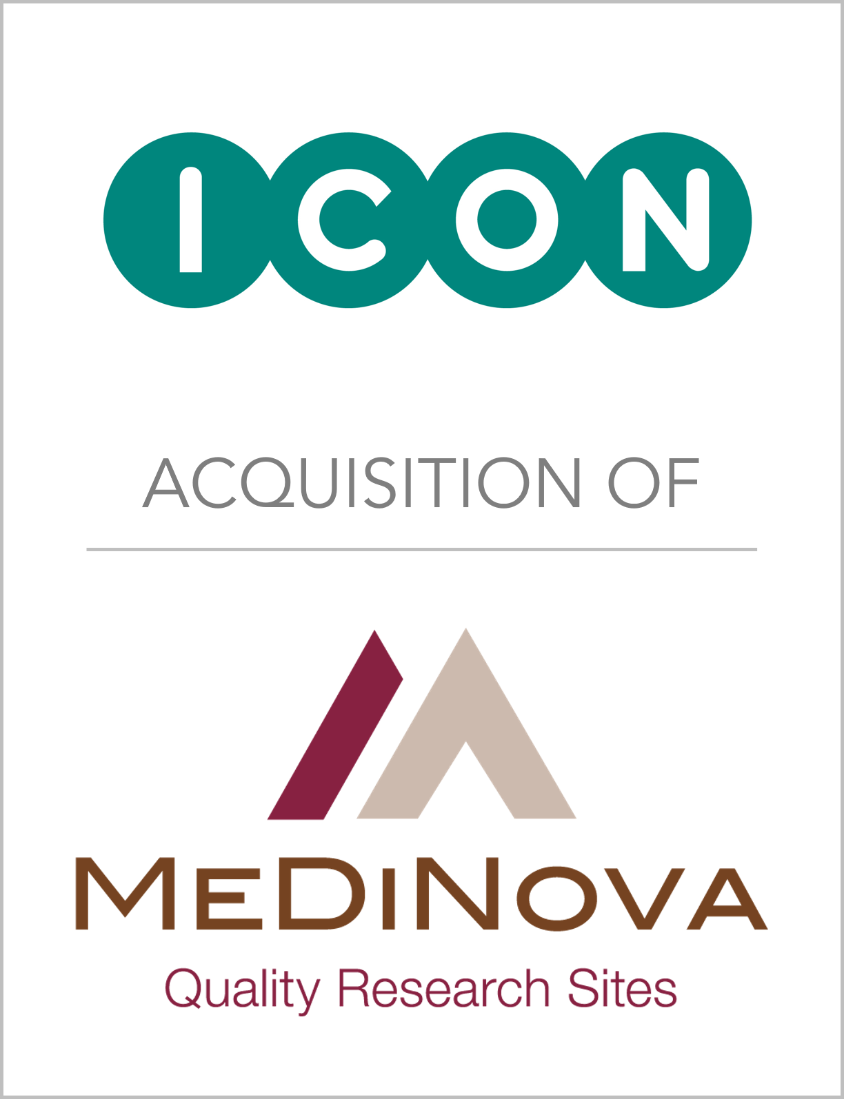 ICON_AcquisitionOf_MeDiNovaResearch - To