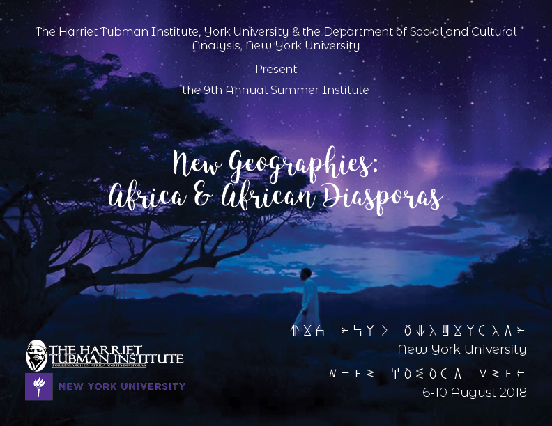 new geographies: africa & african diasporas