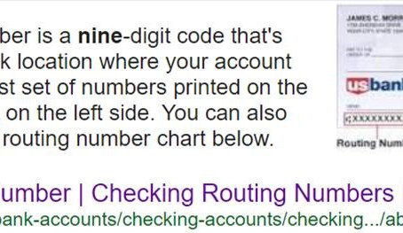 How to extract your Tax Refund Direct Deposit Account and Routing (Transit) Numbers from your Check