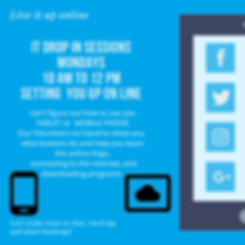 Blue Digital Tablet Dots Social Media Da