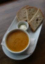 Homemade soup & vegan butter
