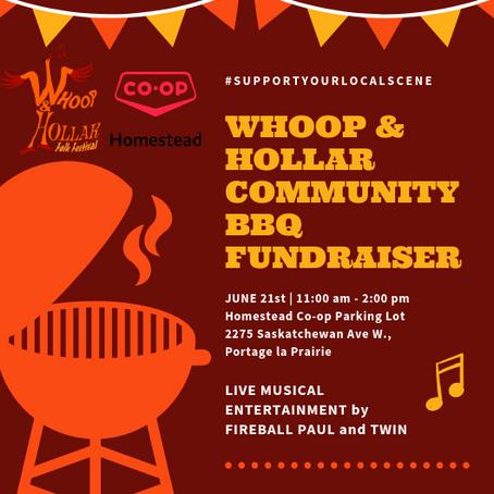 Whoop & Hollar BBQ Fundraiser June 21st