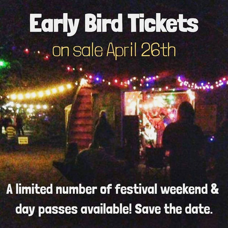 Early Bird Tickets On Sale April 26th