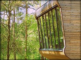 Highfield Baumhaus 2 Glasfront