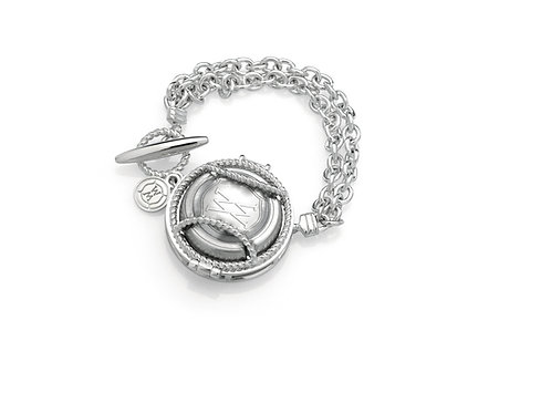 Double Chain Fob Bracelet