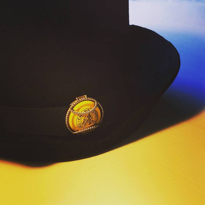 Hats off to a golden champagne collaboration