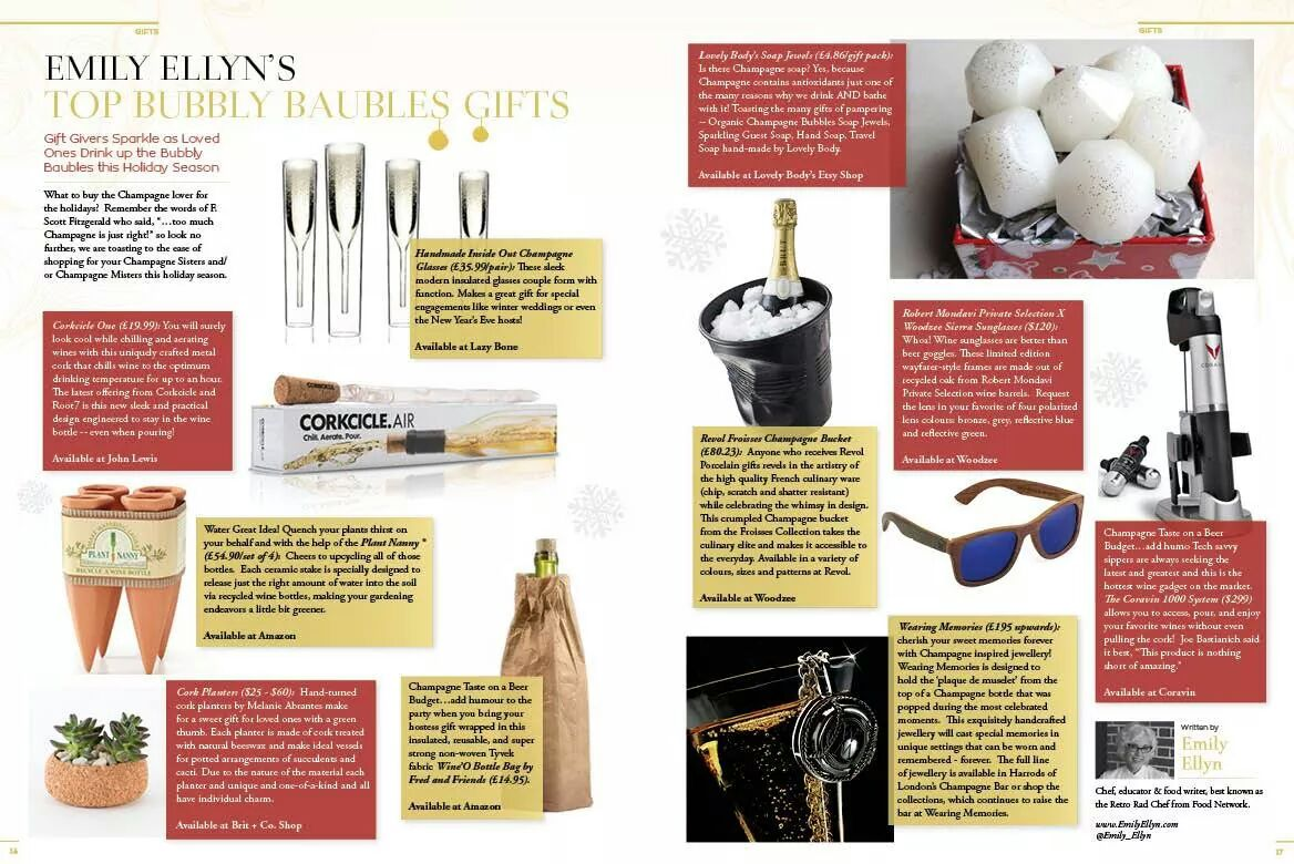 Top 10 Gifts: Glass of Bubbly Mag