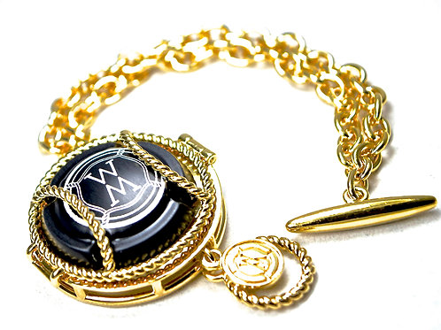 Double Chain Fob Bracelet ($695 USD)