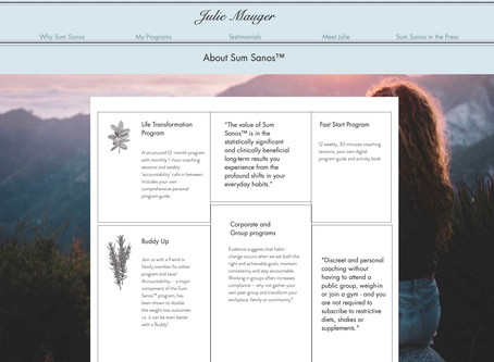 Introducing Julie Mauger - a Life Coach for Sum Sanos™.