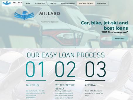 Our latest website - Millard Financial.