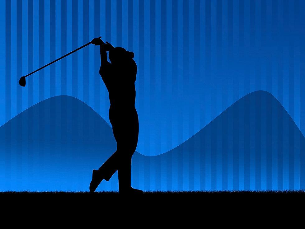 Golfer in blue at Steve Darmody Golf.jpe