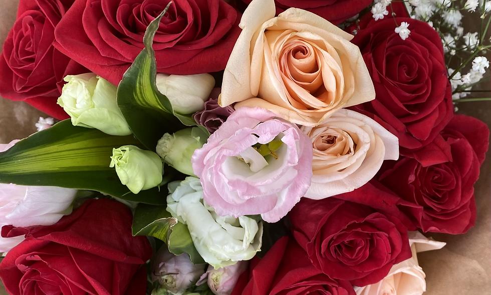 Rose lovers flower arrangement - $55 - 105
