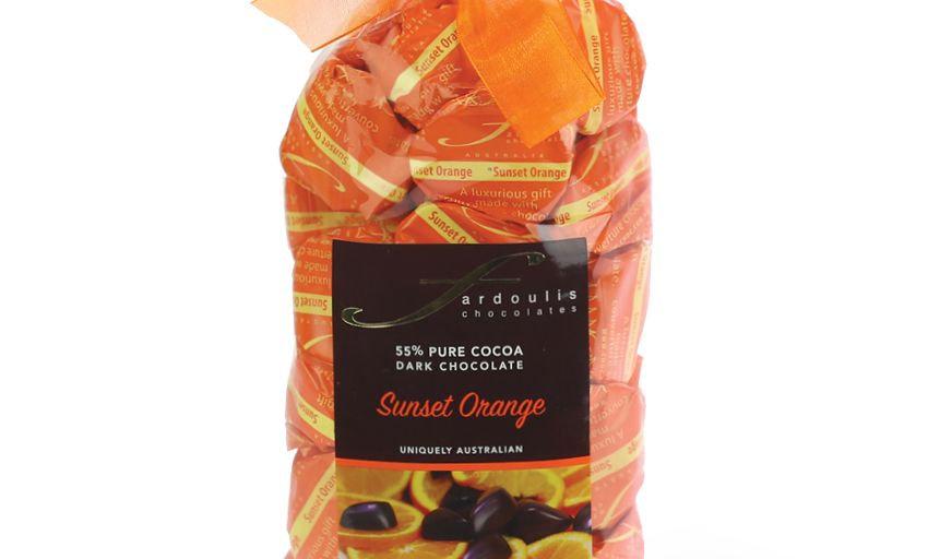 25 Orange Ganache Chocolates Gift Bag