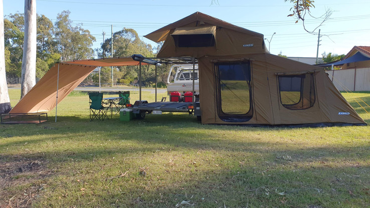 4 Bike Trailer with Camping Equipment.jp