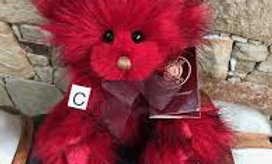Jelly Tot Miniature Fully Jointed Collectable Plush Red Teddy
