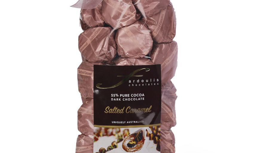 25 Salted Caramel Creme Filled Epicurean Chocolate Gift Bag 250g