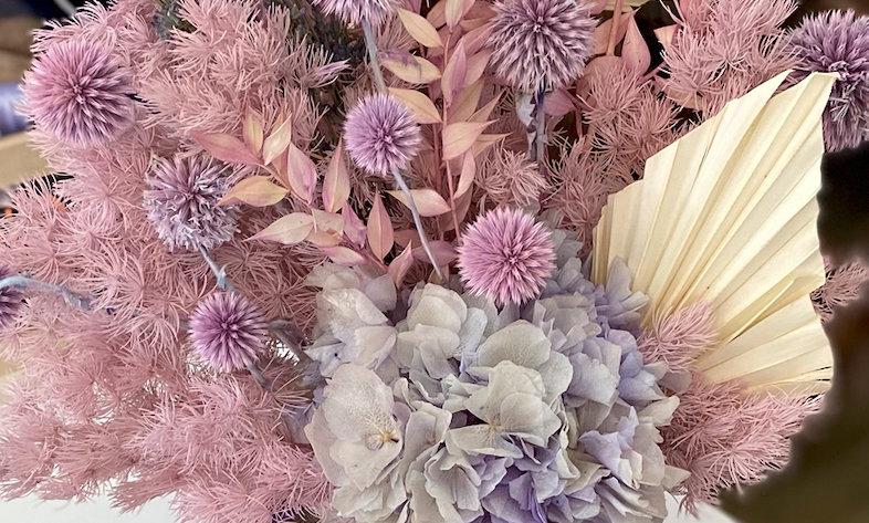 Hints of lavender dry flower arrangement - $140