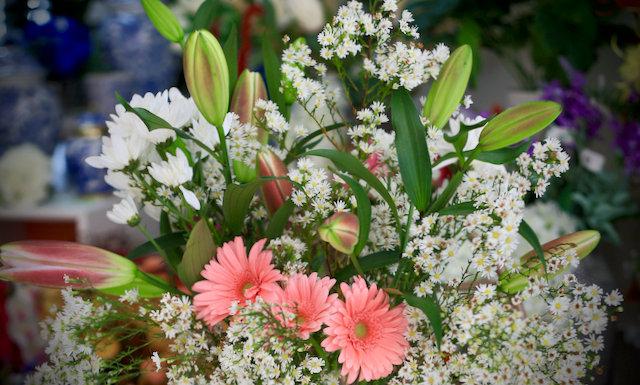 Seasonal delight flower arrangement - $150