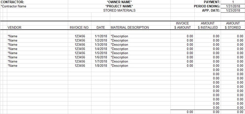 Aia G702 703 Template Construction Logs