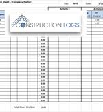 drawing log template