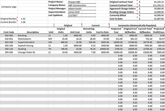 Monthly Financial Tracking