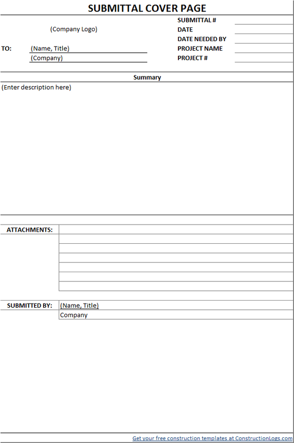 submittal transmittal form template Five Things You