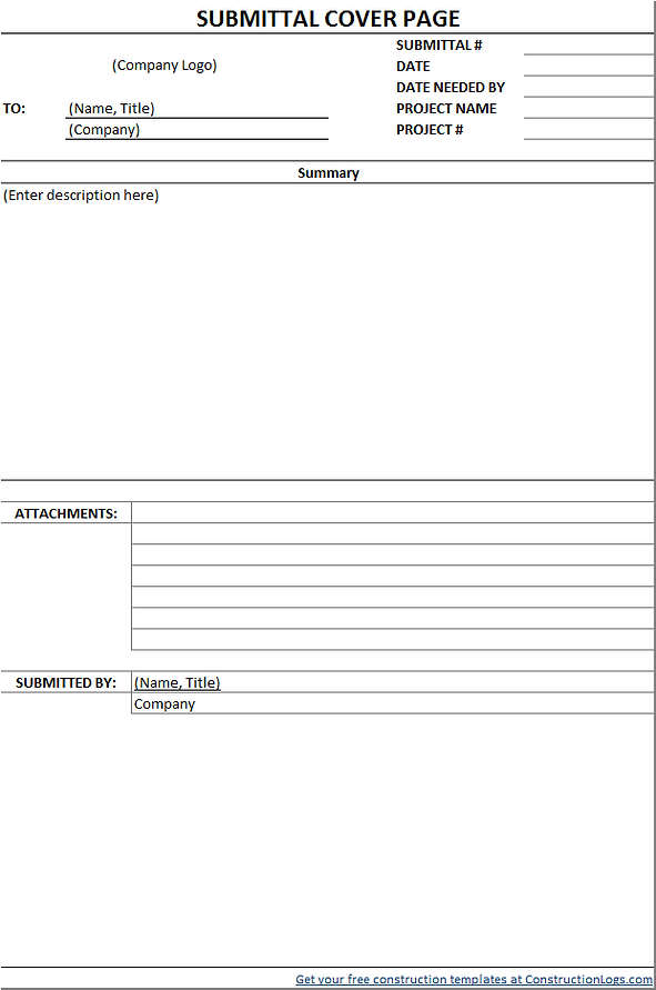 Submittal Form Free Download