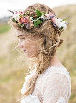 wedding-hairstyle-with-floral-crown-love