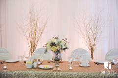 SIlver decor and branches