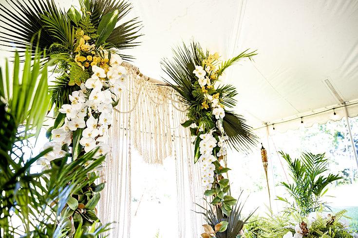tropical wedding, ten wedding, wedding decor, tropical decor
