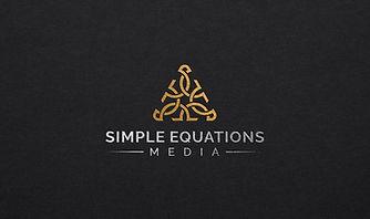 SIMPLE EQUATIONS MEDIA gold foil black b