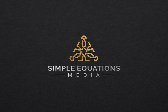 SIMPLE EQUATIONS MEDIA gold foil black b