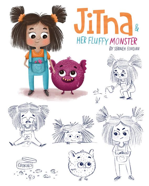 Jitna-&-her-fluffy-monster.jpg