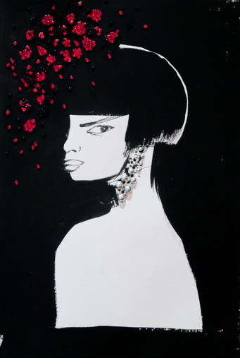 Le lendemain_ Peinture acrylique - Collage