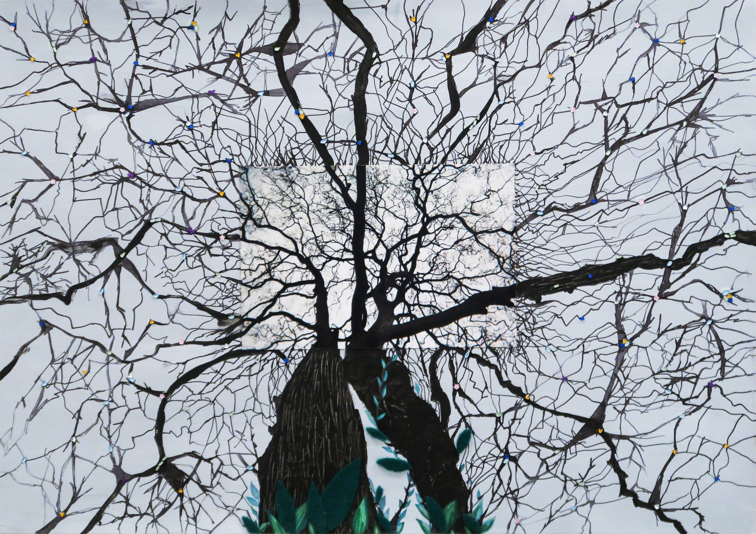 Tree of Hope_  Collage - Photographie:35mm - Encre de chine