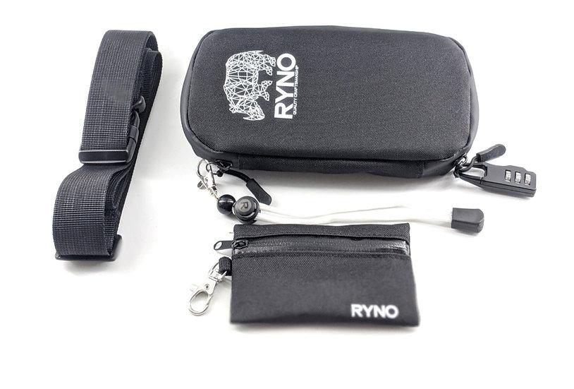 RYNO Smell Proof Bag W/Combo Lock + Shoulder & Wrist Straps