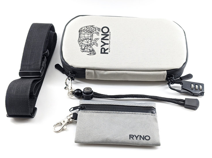 RYNO Smell Proof Bag W/Combo Lock + Shoulder & Wrist Straps
