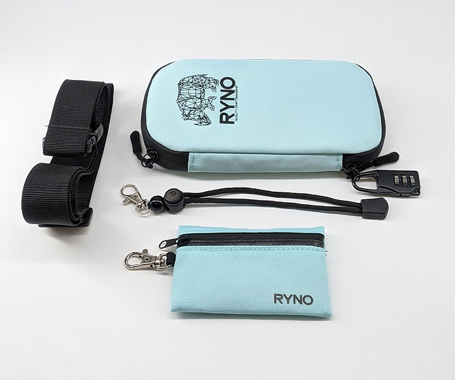 RYNO Smell Proof Bag W/Combo Lock + Shoulder&Wrist Straps
